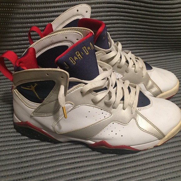 pretty nice e4660 4ae7a 💫RARE🏀Air Jordan 7 Retro VII Olympic 2004